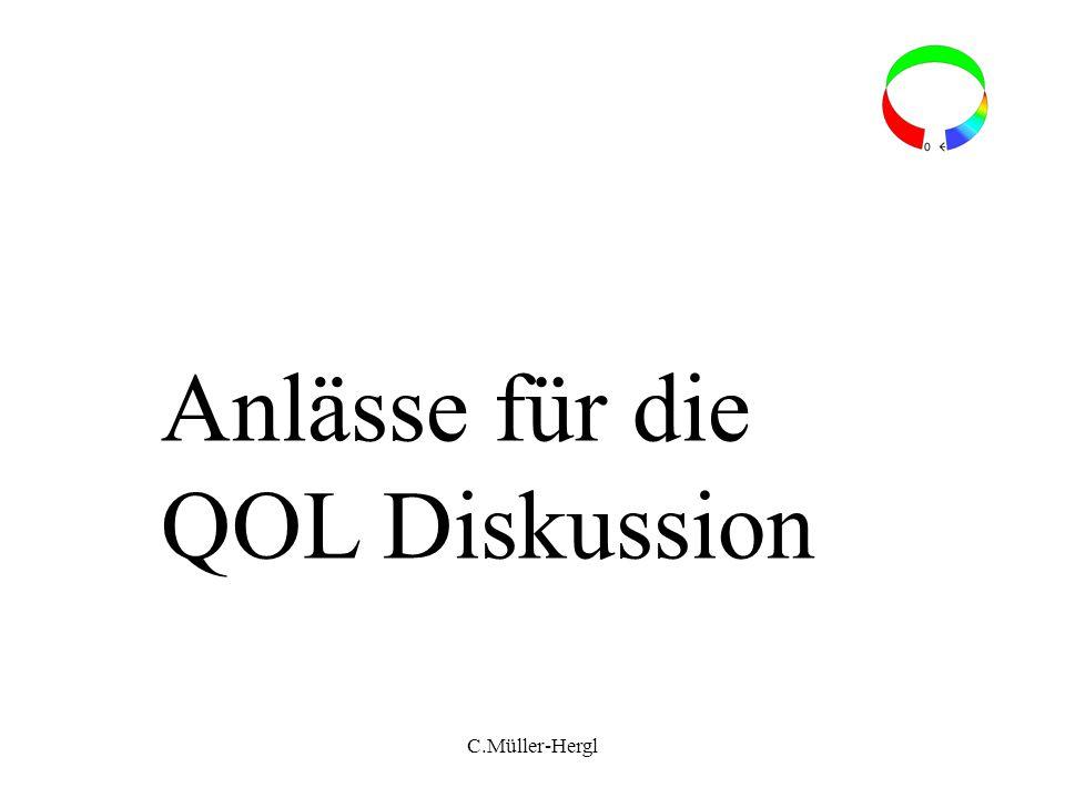 Anlässe für die QOL Diskussion