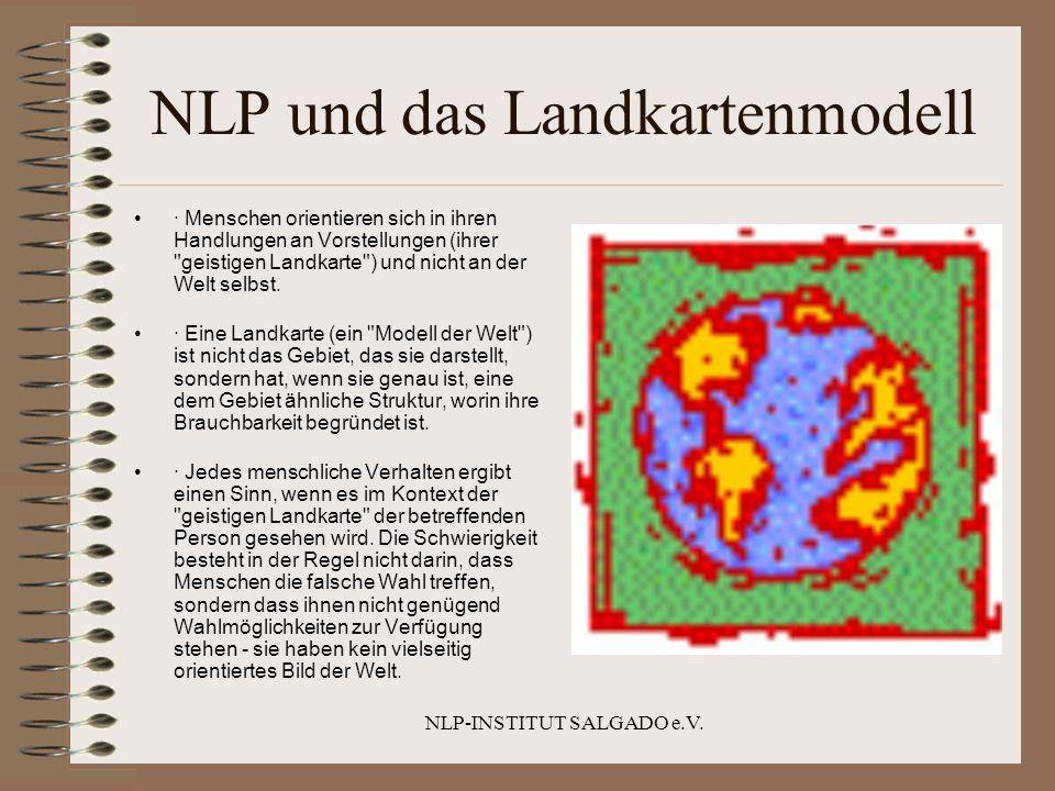 NLP-INSTITUT SALGADO e.V. NLP und das Landkartenmodell · Menschen orientieren sich in ihren Handlungen an Vorstellungen (ihrer