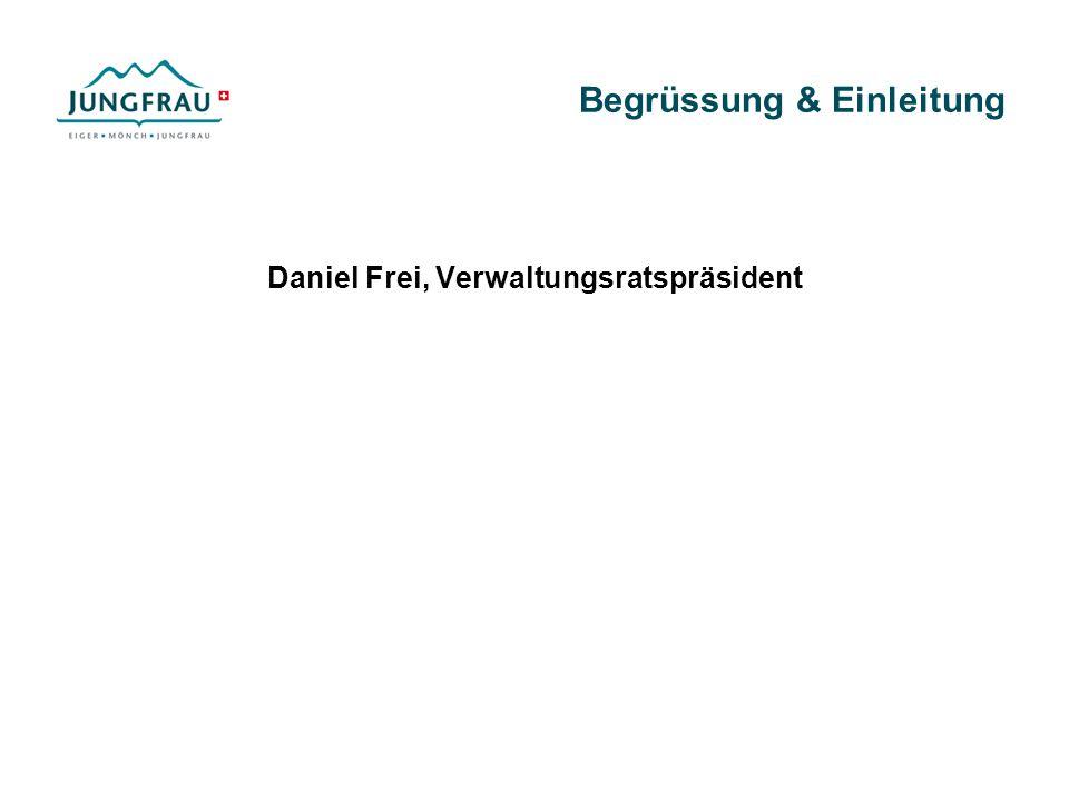 Begrüssung & Einleitung Daniel Frei, Verwaltungsratspräsident