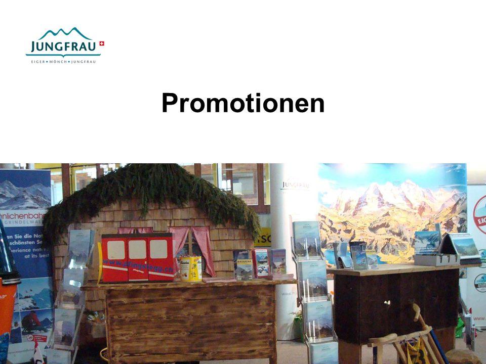 Marketing Budget 2009 Total 1329900 333500 Werbung (Prospekte, Internet, Wettbewerbe, PR etc.) 34000 Segmentpromotionen (Bike, MICE, Eigerness) 121400 Kooperationen, Mitgliedschaften 346800 Märkte 1.
