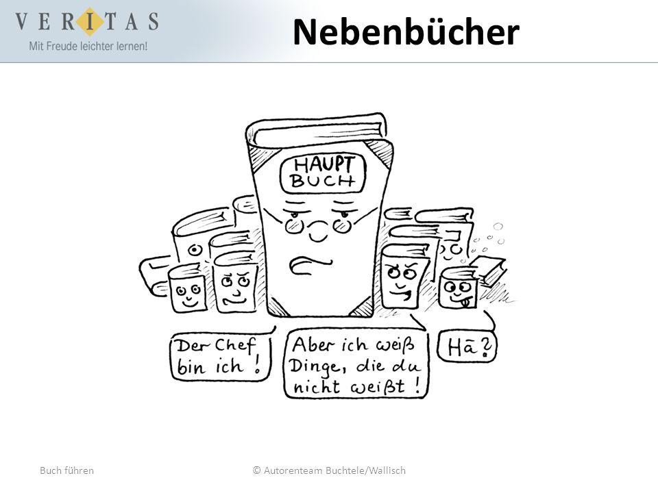 Buch führen© Autorenteam Buchtele/Wallisch Nebenbücher