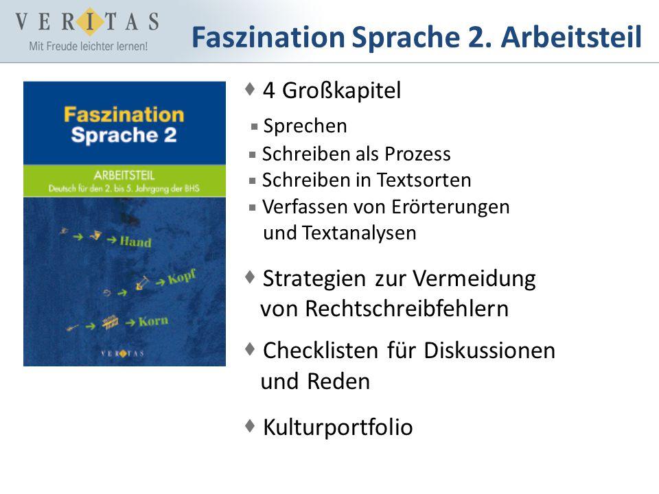 Faszination Sprache 2. Arbeitsteil 4 Großkapitel Sprechen Schreiben als Prozess Schreiben in Textsorten Verfassen von Erörterungen und Textanalysen St