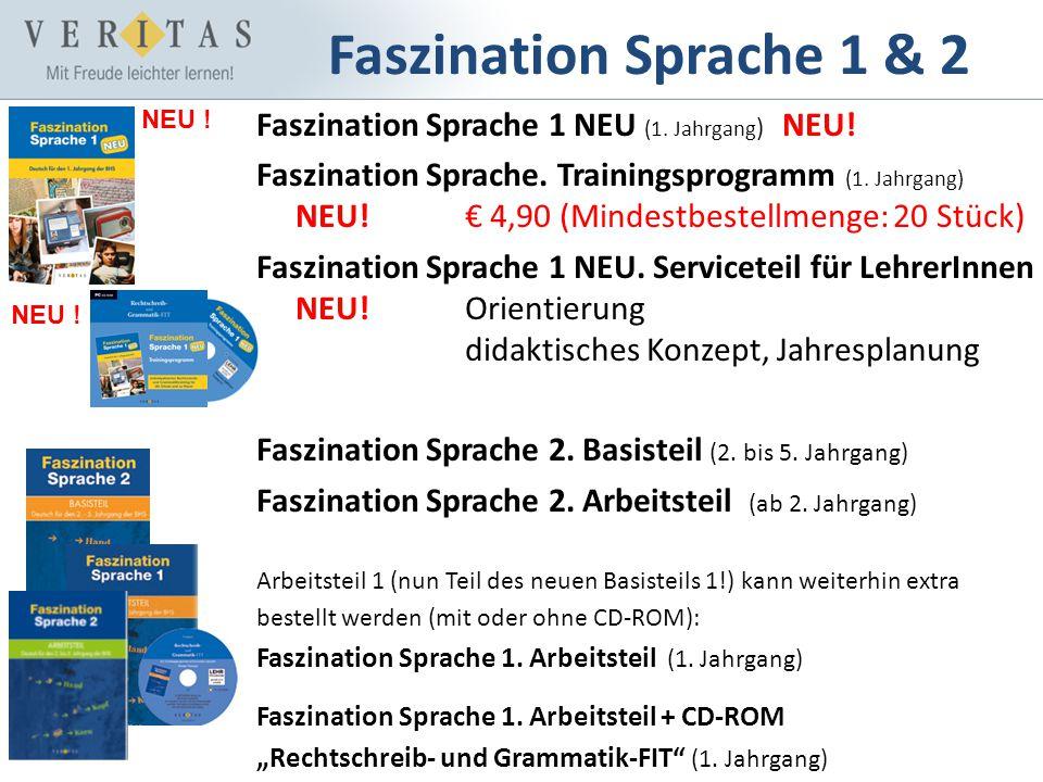 Faszination Sprache 1 & 2 Faszination Sprache 1 NEU (1. Jahrgang ) NEU! Faszination Sprache. Trainingsprogramm (1. Jahrgang) NEU! 4,90 (Mindestbestell
