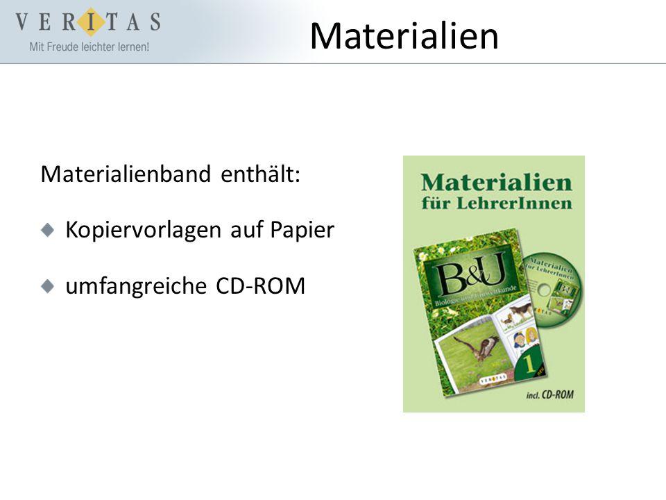 Materialien Materialienband enthält: Kopiervorlagen auf Papier umfangreiche CD-ROM