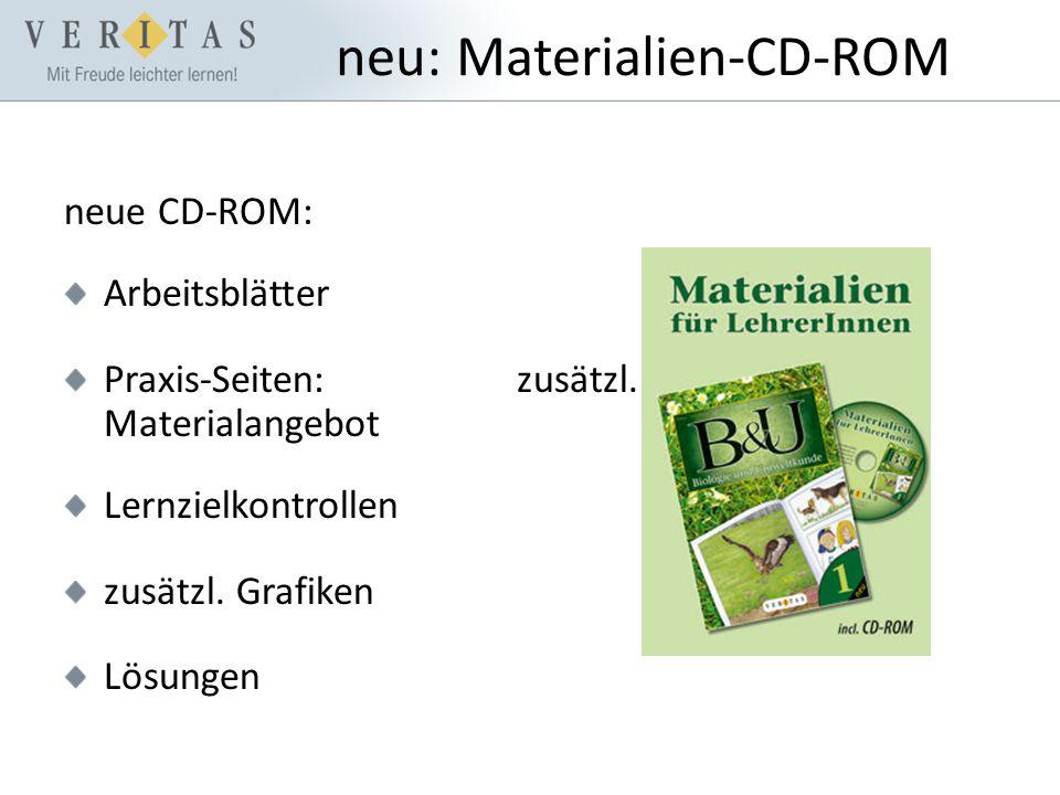 neu: Materialien-CD-ROM neue CD-ROM: Arbeitsblätter Praxis-Seiten: zusätzl.