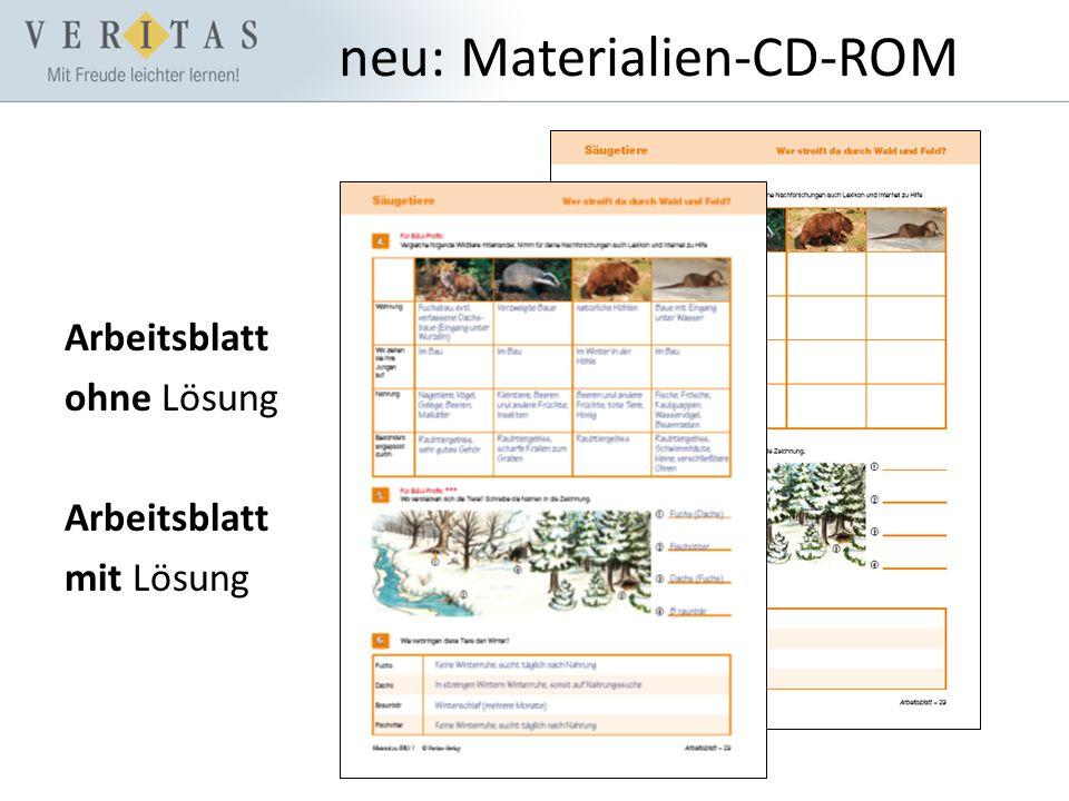 neu: Materialien-CD-ROM Arbeitsblatt ohne Lösung Arbeitsblatt mit Lösung