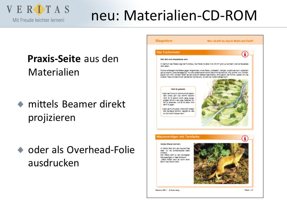 neu: Materialien-CD-ROM Praxis-Seite aus den Materialien mittels Beamer direkt projizieren oder als Overhead-Folie ausdrucken