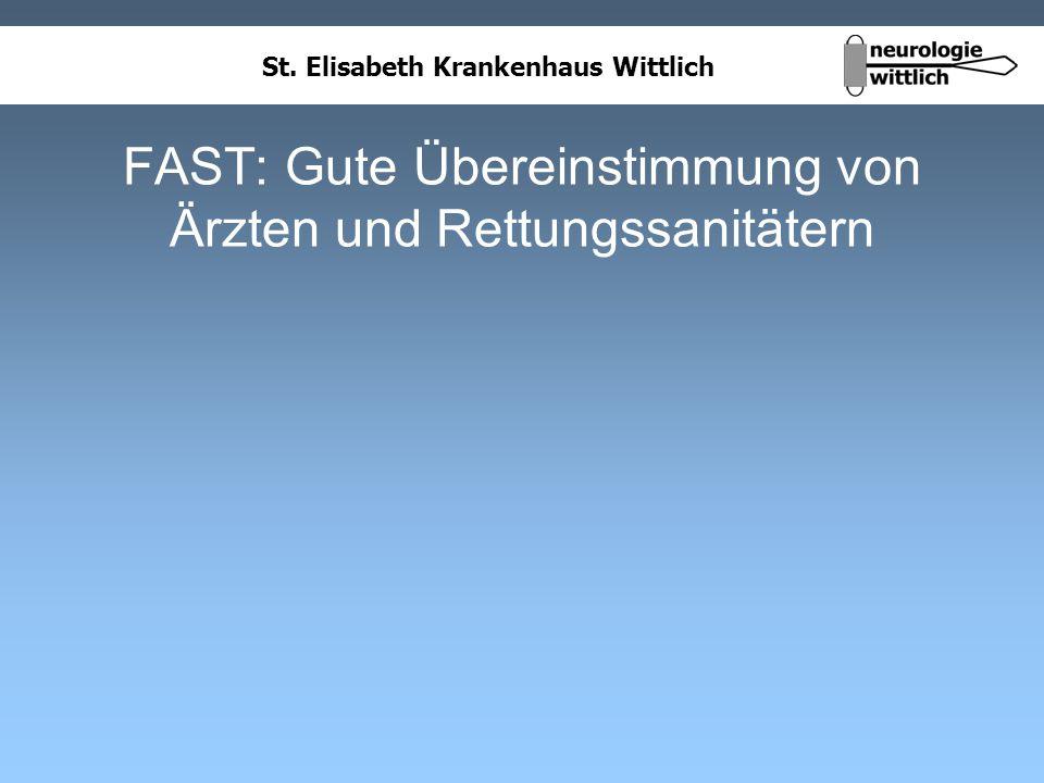 St. Elisabeth Krankenhaus Wittlich FAST: Gute Übereinstimmung von Ärzten und Rettungssanitätern