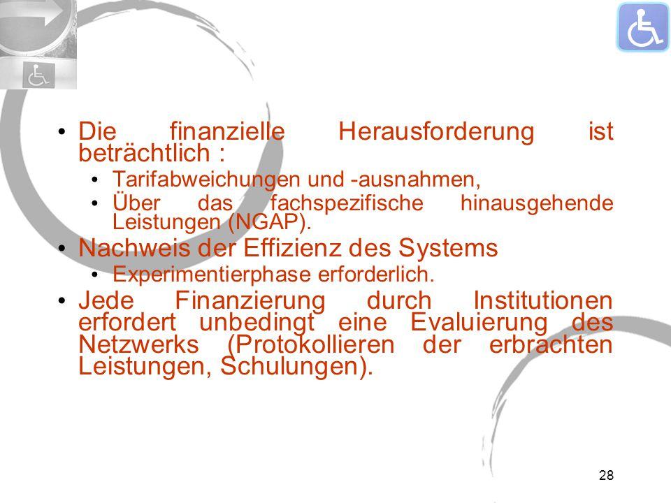 Die finanzielle Herausforderung ist beträchtlich : Tarifabweichungen und -ausnahmen, Über das fachspezifische hinausgehende Leistungen (NGAP).
