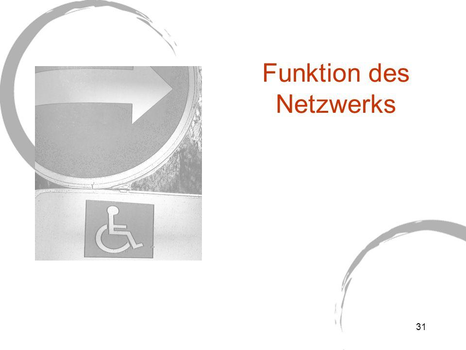 Funktion des Netzwerks 31