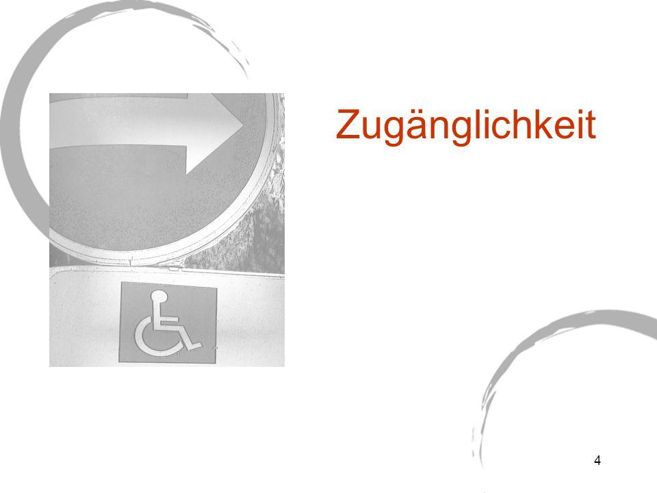 Alle anwendbaren technischen Normen für behindertengerechte Eingangsbereiche in öffentlich zugänglichen Gebäuden.