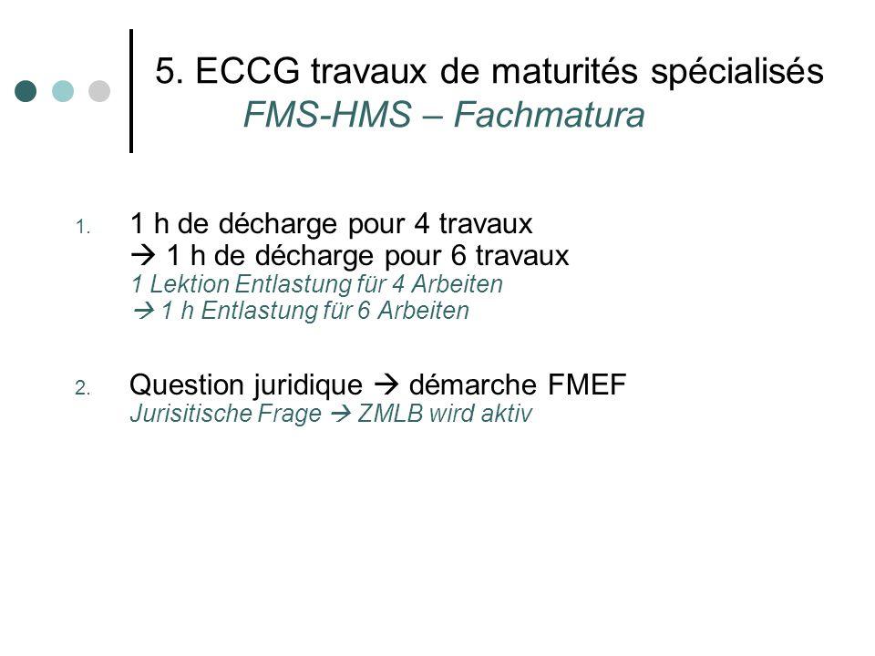 5. ECCG travaux de maturités spécialisés FMS-HMS – Fachmatura 1.