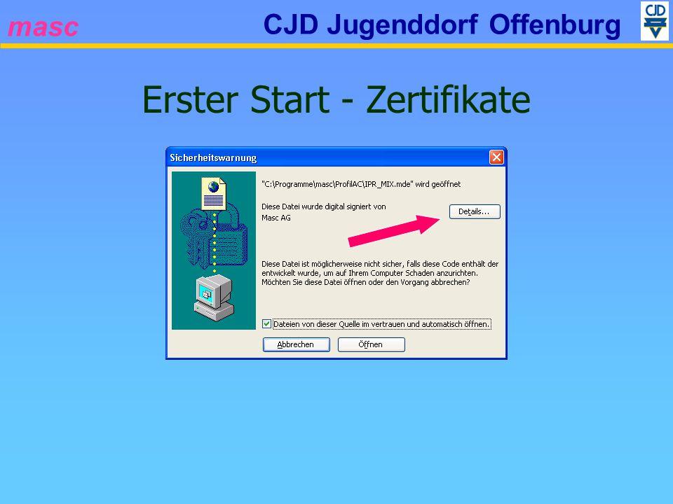 masc CJD Jugenddorf Offenburg Erster Start - Zertifikate