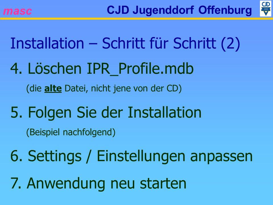 masc CJD Jugenddorf Offenburg Installation – Schritt für Schritt (2) 4.