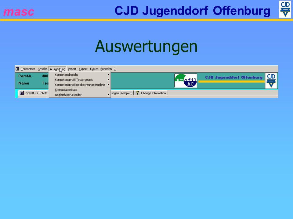 masc CJD Jugenddorf Offenburg Auswertungen