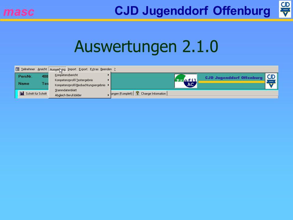 masc CJD Jugenddorf Offenburg Auswertungen 2.1.0