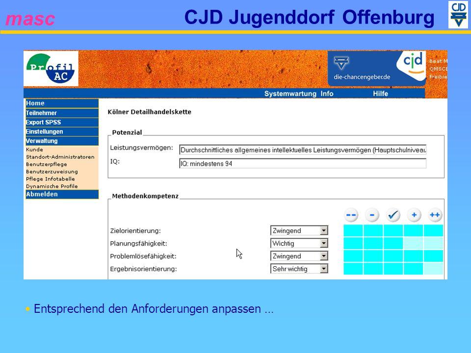 masc CJD Jugenddorf Offenburg Entsprechend den Anforderungen anpassen …