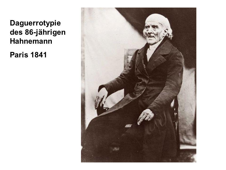 Daguerrotypie des 86-jährigen Hahnemann Paris 1841