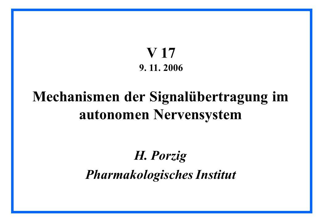 Mechanismen der Signalübertragung im autonomen Nervensystem H.