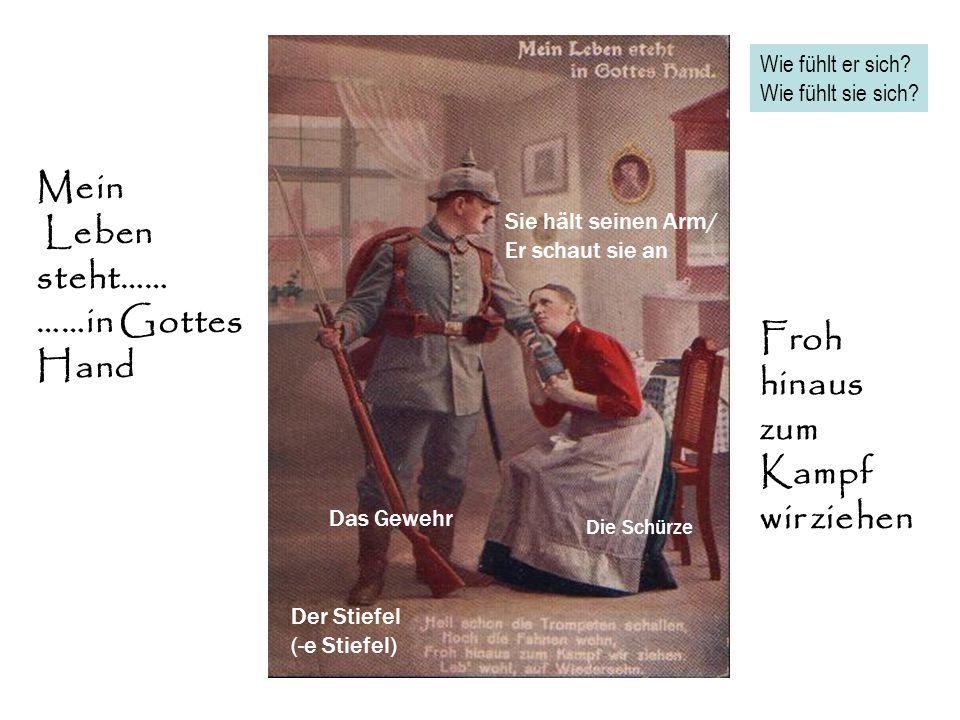 STURM …. … Auf die Gulasch- Kanone Was essen die Soldaten? Sehen sie traurig Oder glücklich aus?