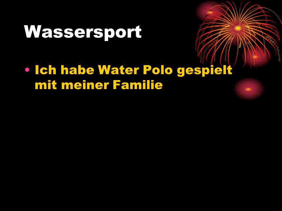 Wassersport Ich habe Water Polo gespielt mit meiner Familie