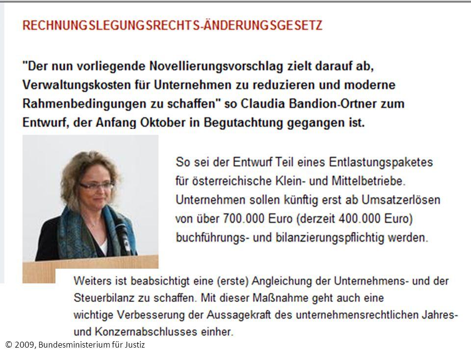 © 2009, Bundesministerium für Justiz