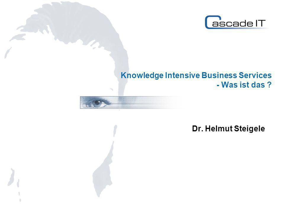 Lieferinhalte von Knowledge Intensive Business Services Vier Arten von ökonomisch relevantem Wissen: Know-what: Faktenwissen Know-why: Wissenschaftliches Wissen über Prinzipien und Gesetze zur Entwicklung technologischer Neuerungen Know-how: Fertigkeiten und Fähigkeiten Know-who: Wissensgenerierung über soziale Beziehungen 12