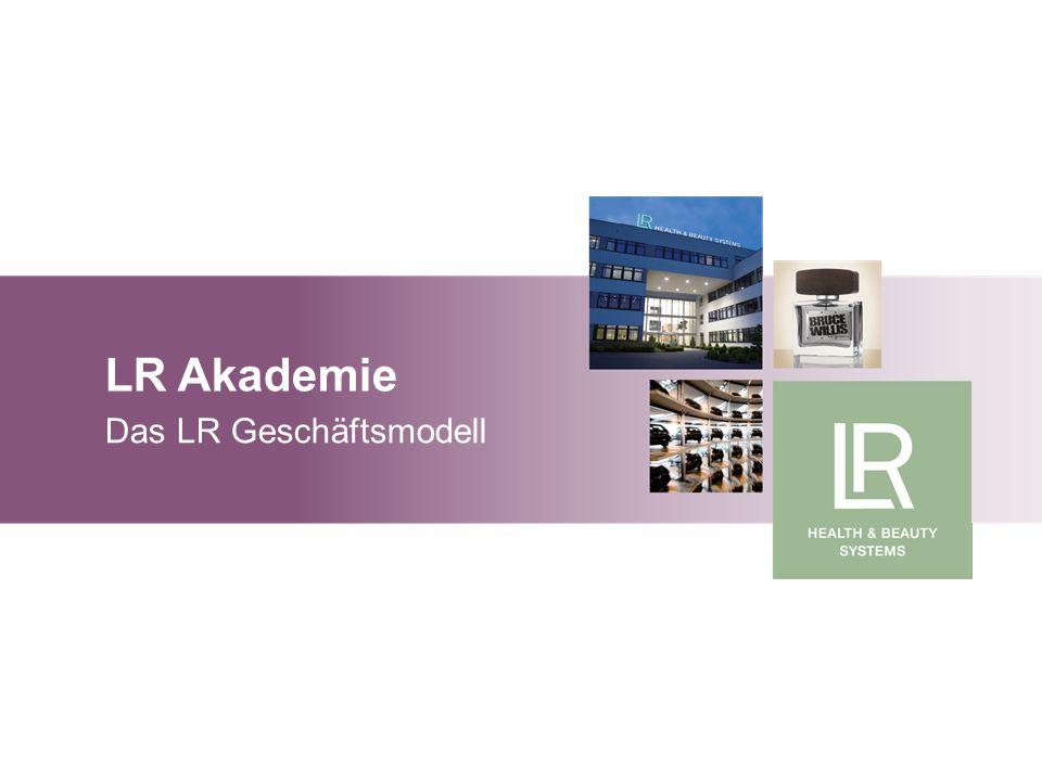 LR Akademie Grundlagen Marketingplan LR Akademie Das LR Geschäftsmodell