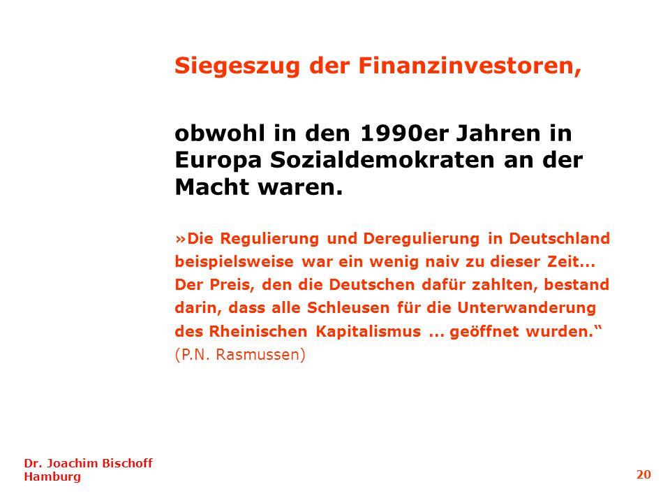 obwohl in den 1990er Jahren in Europa Sozialdemokraten an der Macht waren.
