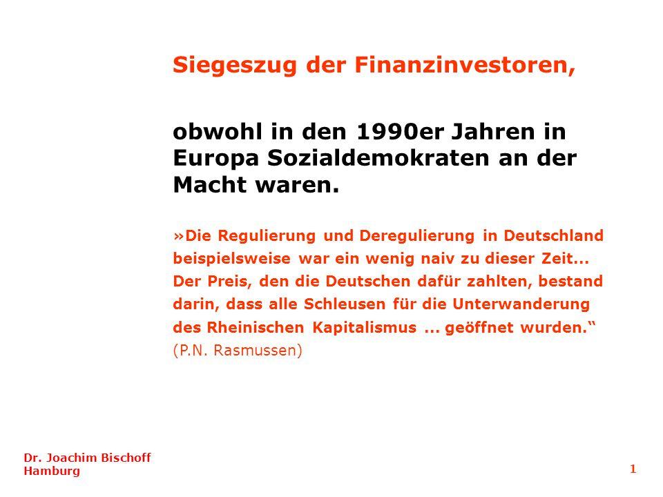 obwohl in den 1990er Jahren in Europa Sozialdemokraten an der Macht waren. »Die Regulierung und Deregulierung in Deutschland beispielsweise war ein we
