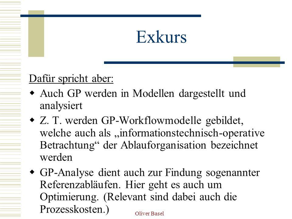 Oliver Basel Exkurs Dafür spricht aber: Auch GP werden in Modellen dargestellt und analysiert Z.