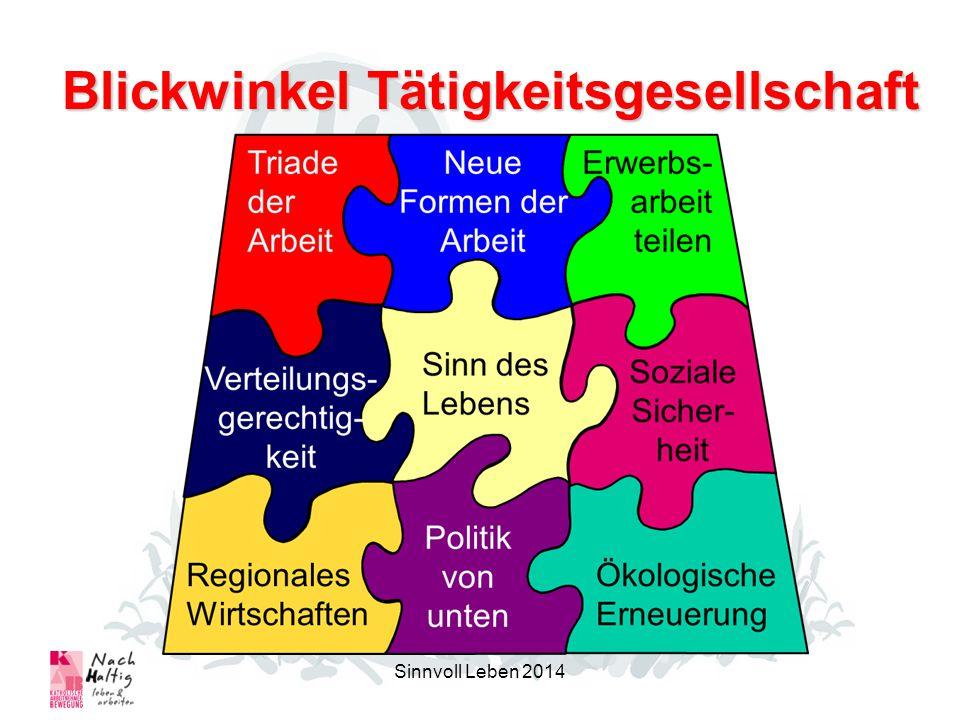 Blickwinkel Tätigkeitsgesellschaft Sinnvoll Leben 2014