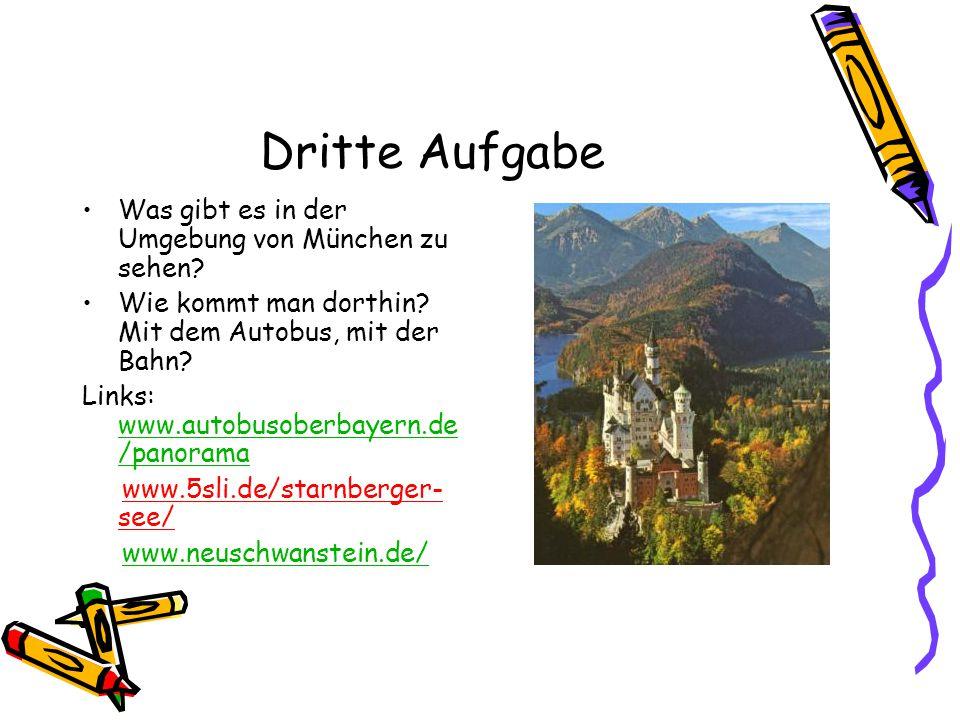 Vierte Aufgabe Wo kann man als Student in München günstig wohnen.
