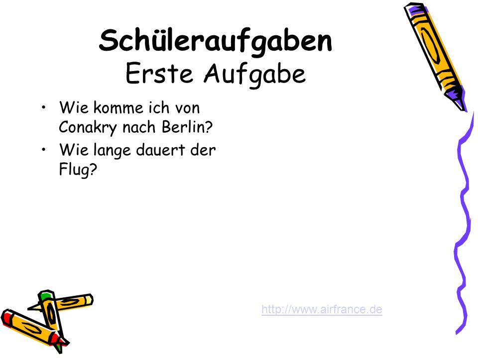 Zweite Aufgabe Sammelt Informationen ueber Berlin.