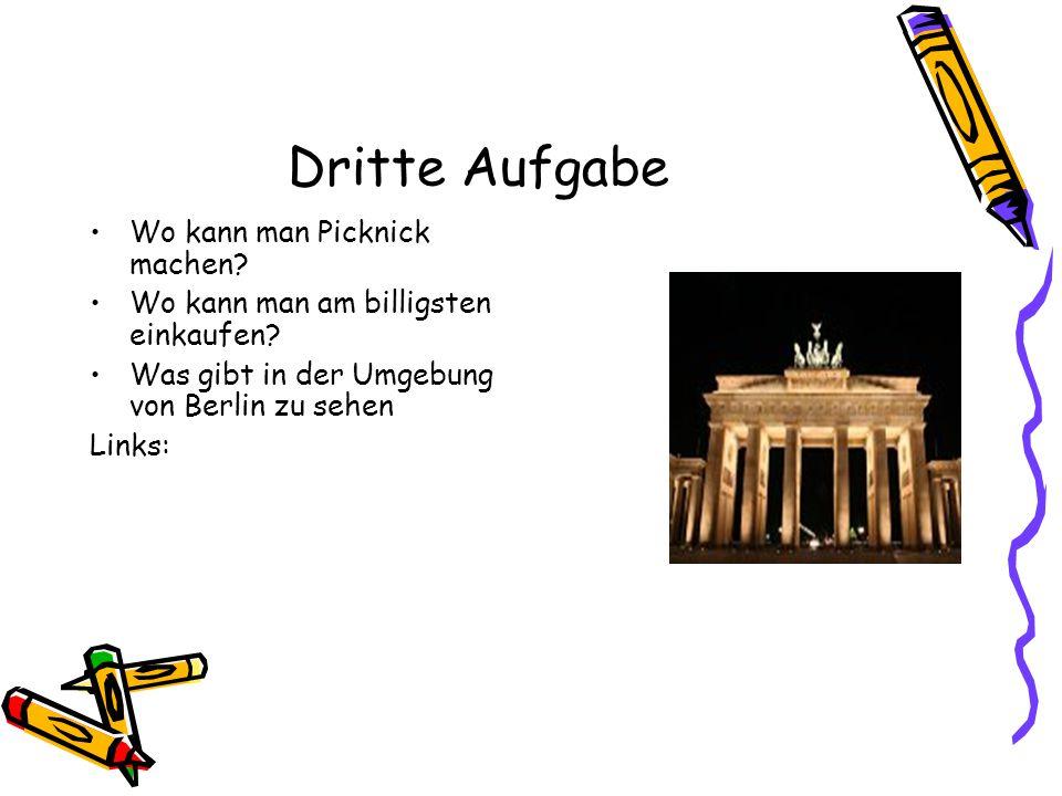 Vierte Aufgabe Wo kann man als Schüler in Berlin günstig wohnen.