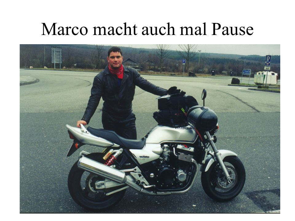 Marco macht auch mal Pause