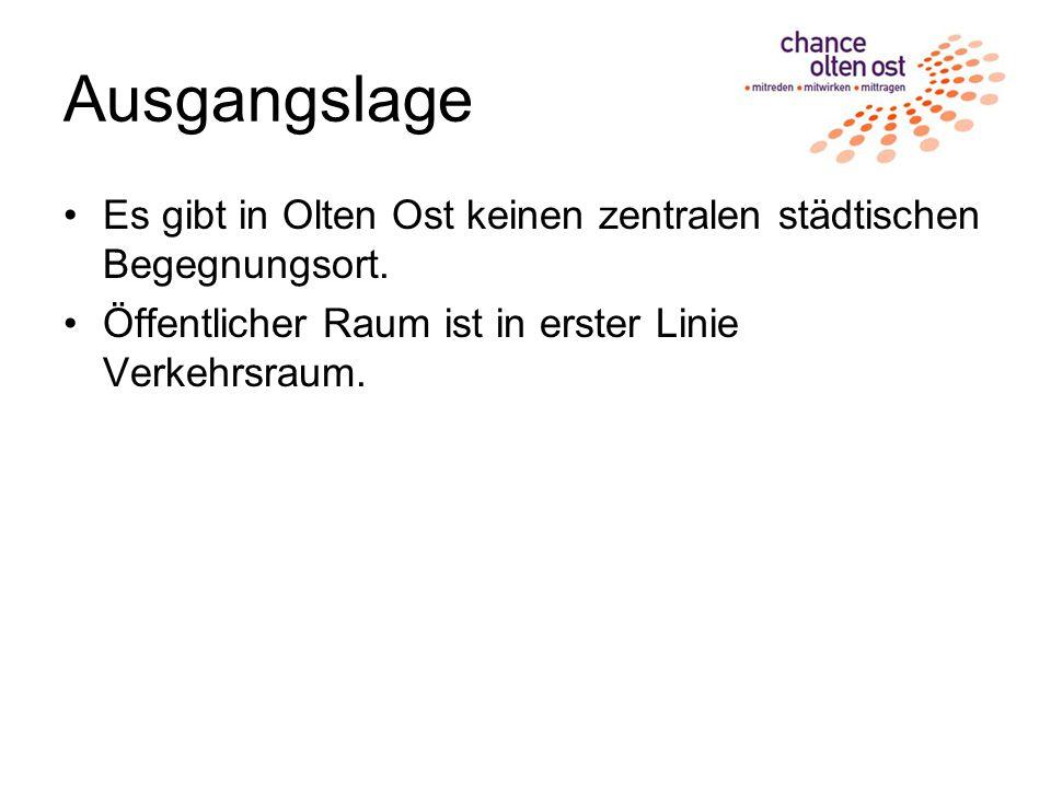 Ausgangslage Es gibt in Olten Ost keinen zentralen städtischen Begegnungsort.
