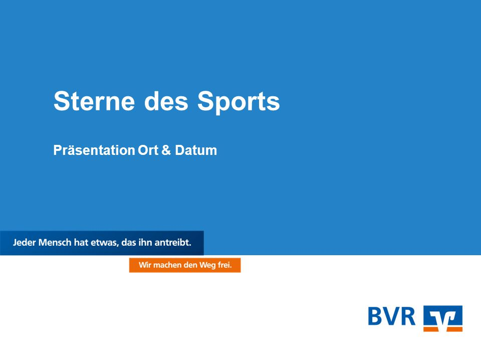 Sterne des Sports Präsentation Ort & Datum