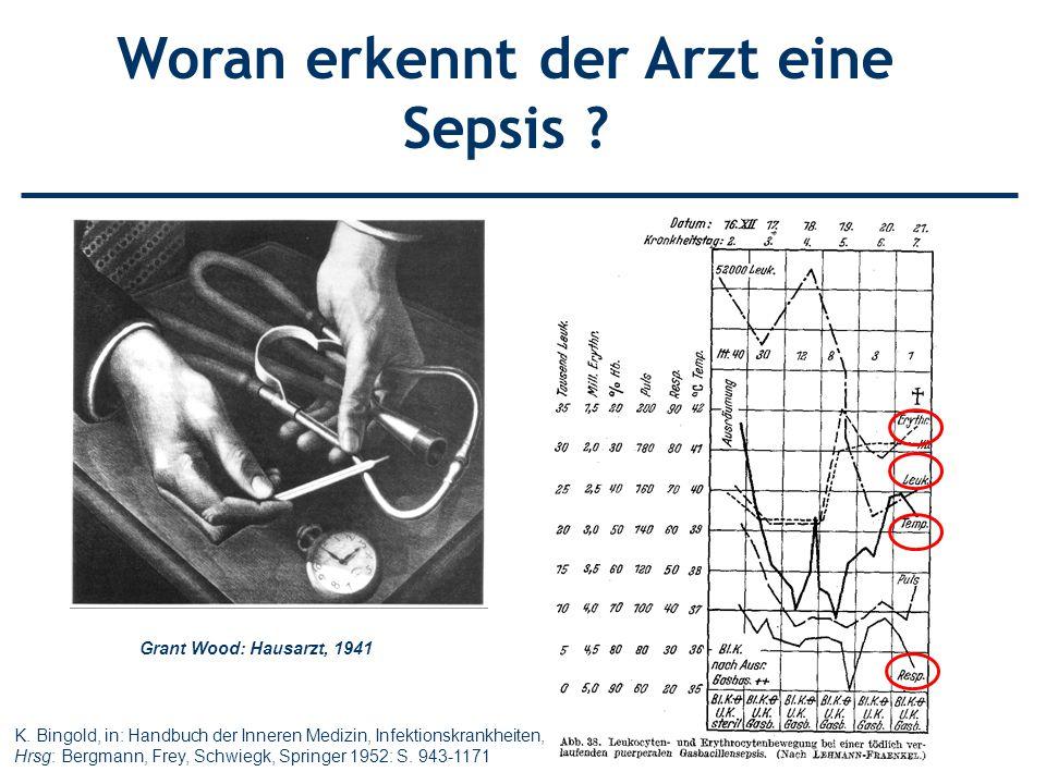 Grant Wood: Hausarzt, 1941 K. Bingold, in: Handbuch der Inneren Medizin, Infektionskrankheiten, Hrsg: Bergmann, Frey, Schwiegk, Springer 1952: S. 943-