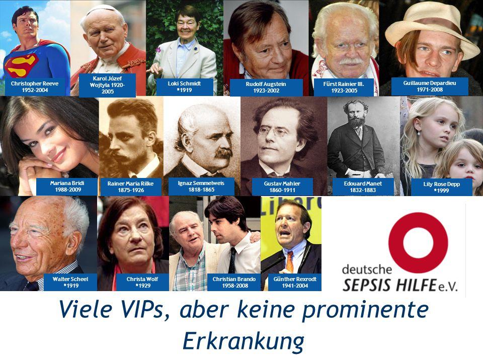 Christopher Reeve 1952-2004 Guillaume Depardieu 1971-2008 Karol Józef Wojtyła 1920- 2005 Loki Schmidt *1919 Fürst Rainier III. 1923-2005 Ignaz Semmelw
