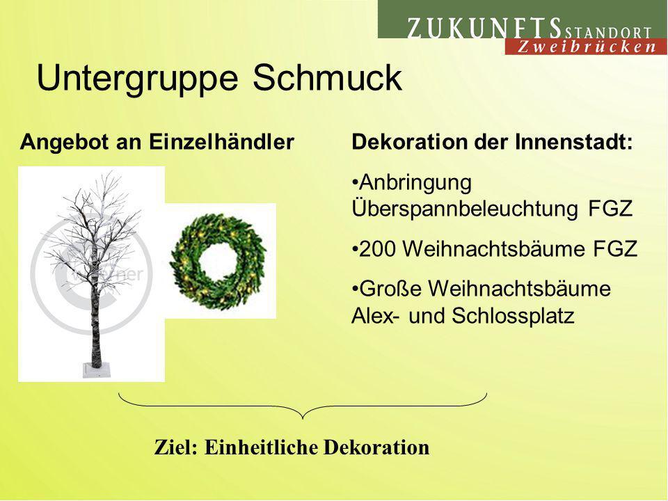 Untergruppe Schmuck Angebot an EinzelhändlerDekoration der Innenstadt: Anbringung Überspannbeleuchtung FGZ 200 Weihnachtsbäume FGZ Große Weihnachtsbäu