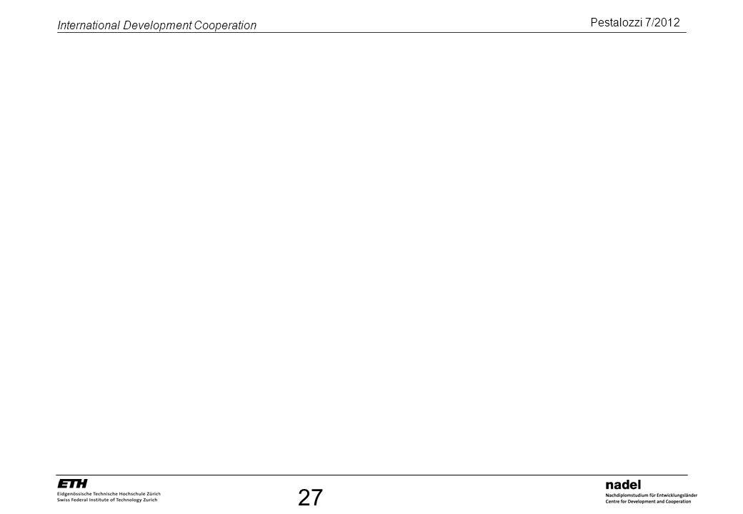 Pestalozzi 7/2012 International Development Cooperation 27