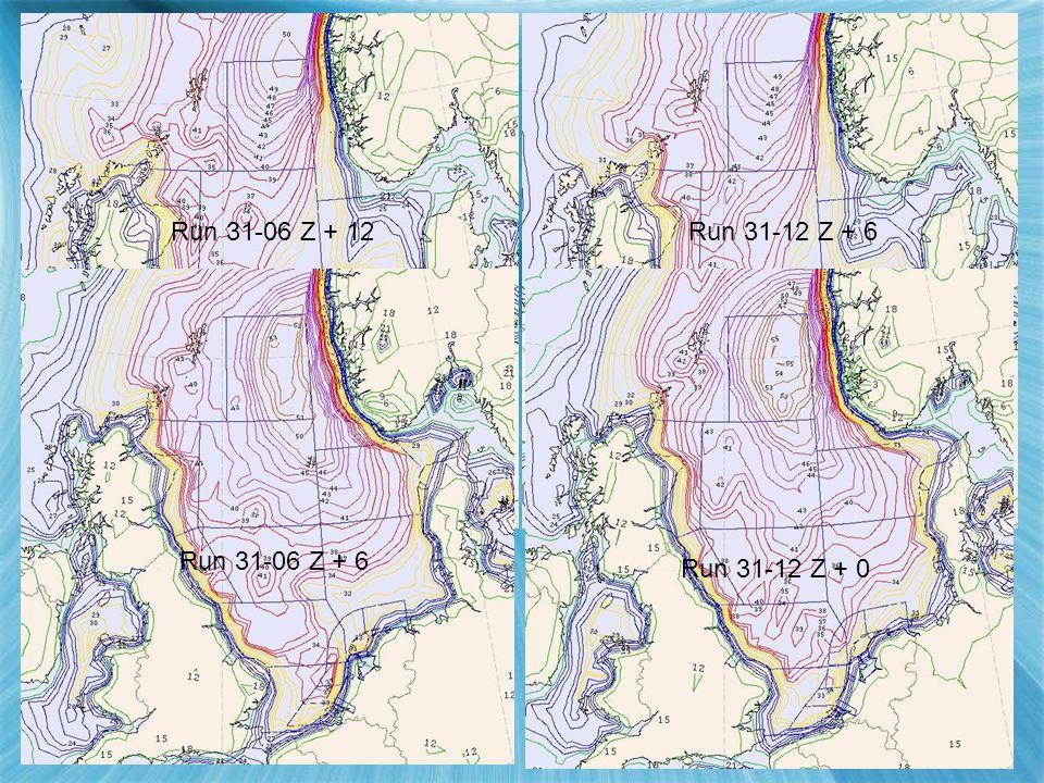 Vergelijking 06 en 12 uur run (speed) Run 31-06 Z + 6 Run 31-12 Z + 0 Run 31-06 Z + 12Run 31-12 Z + 6