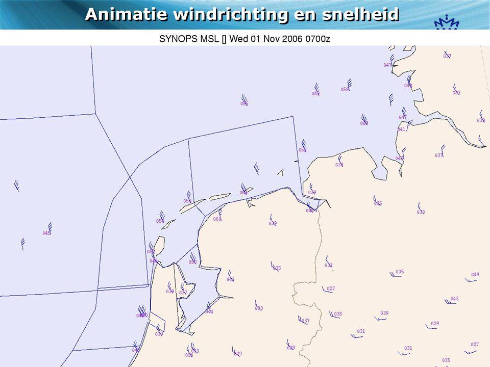 Animatie windrichting en snelheid