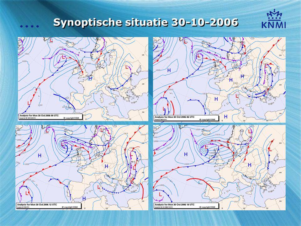 Synoptische situatie 30-10-2006