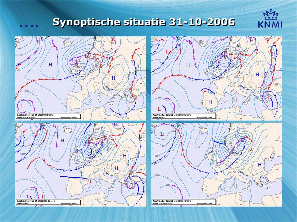 Synoptische situatie 31-10-2006