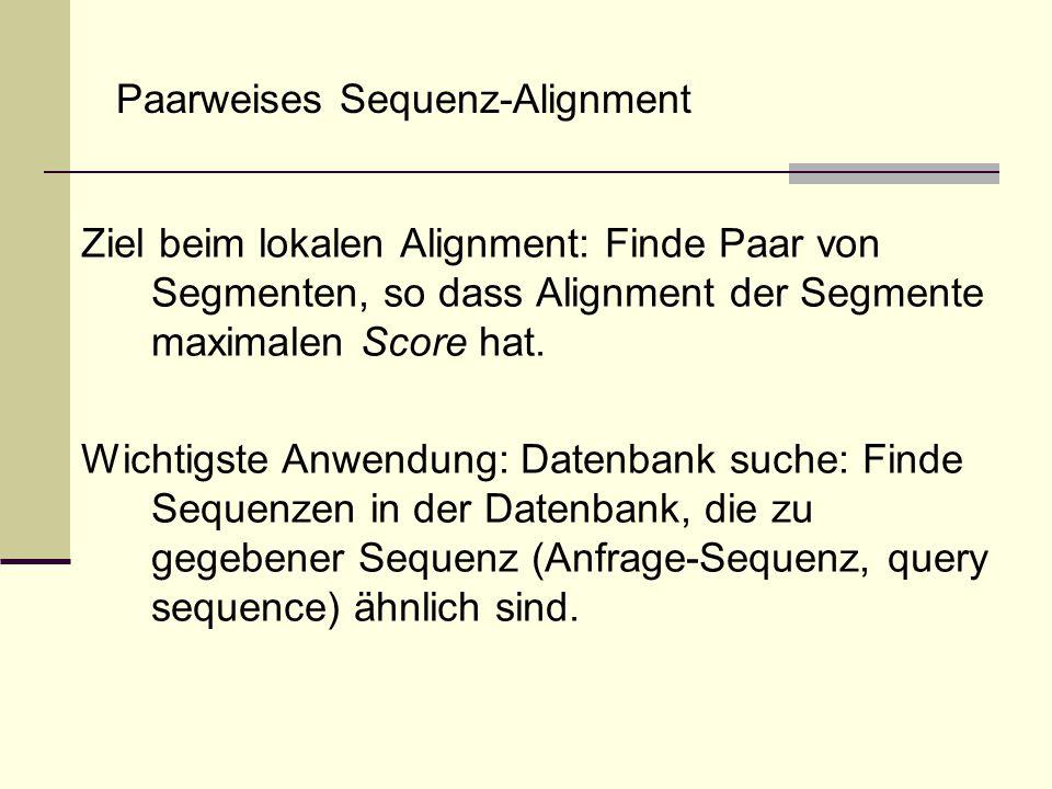 Paarweises Sequenz-Alignment