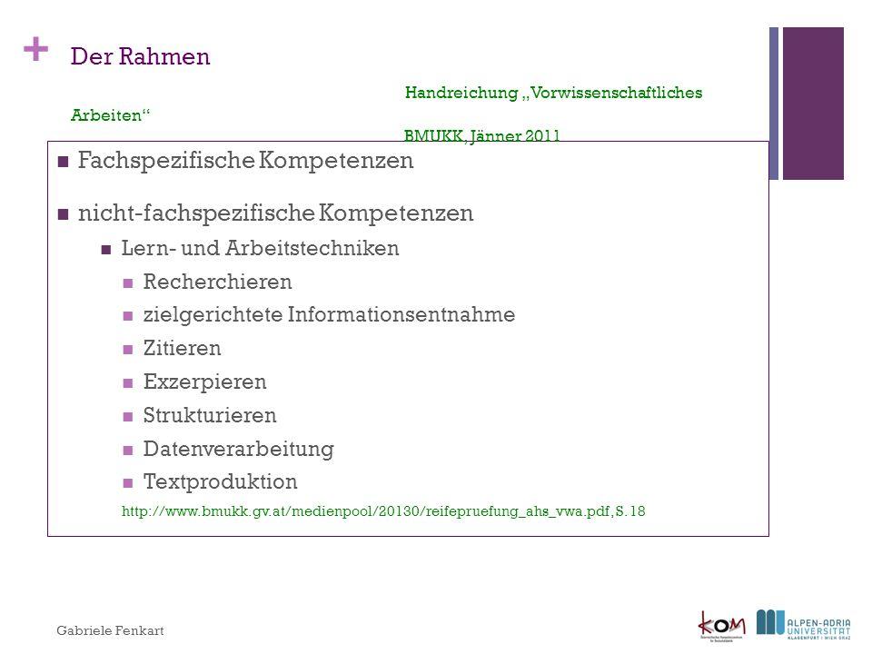 + Aufgabe der Schule (Empfehlung) BMUKK 2011, S.