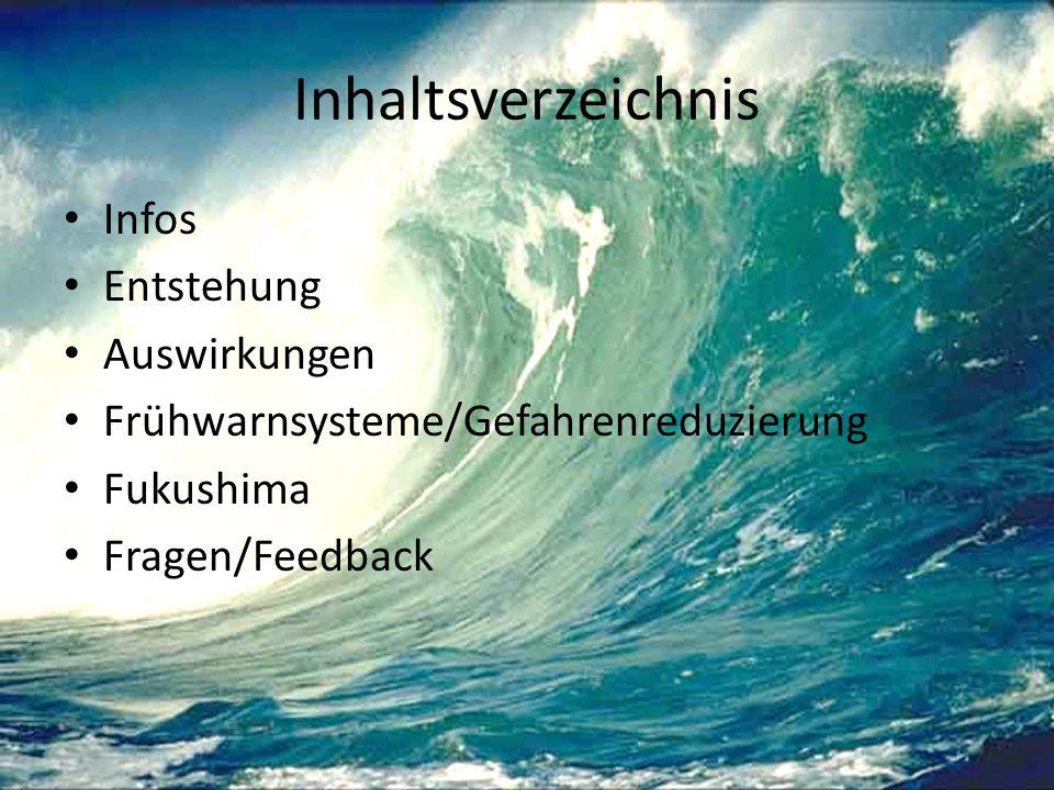 Inhaltsverzeichnis Infos Entstehung Auswirkungen Frühwarnsysteme/Gefahrenreduzierung Fukushima Fragen/Feedback