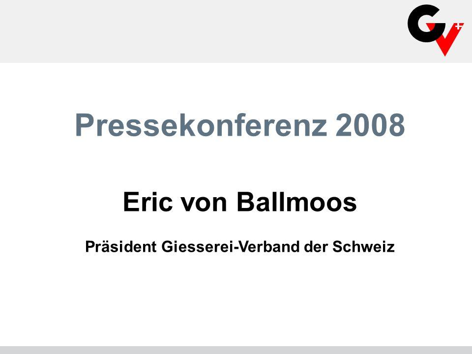 Pressekonferenz 2008 Eric von Ballmoos Präsident Giesserei-Verband der Schweiz